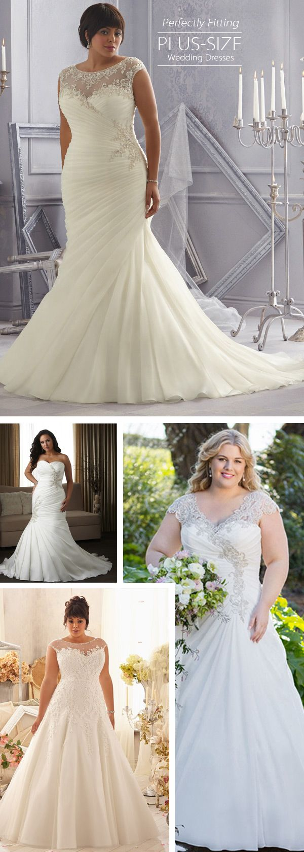 Wedding dresses for slim figures   best Curvy Bridal Dresses images on Pinterest  Short wedding