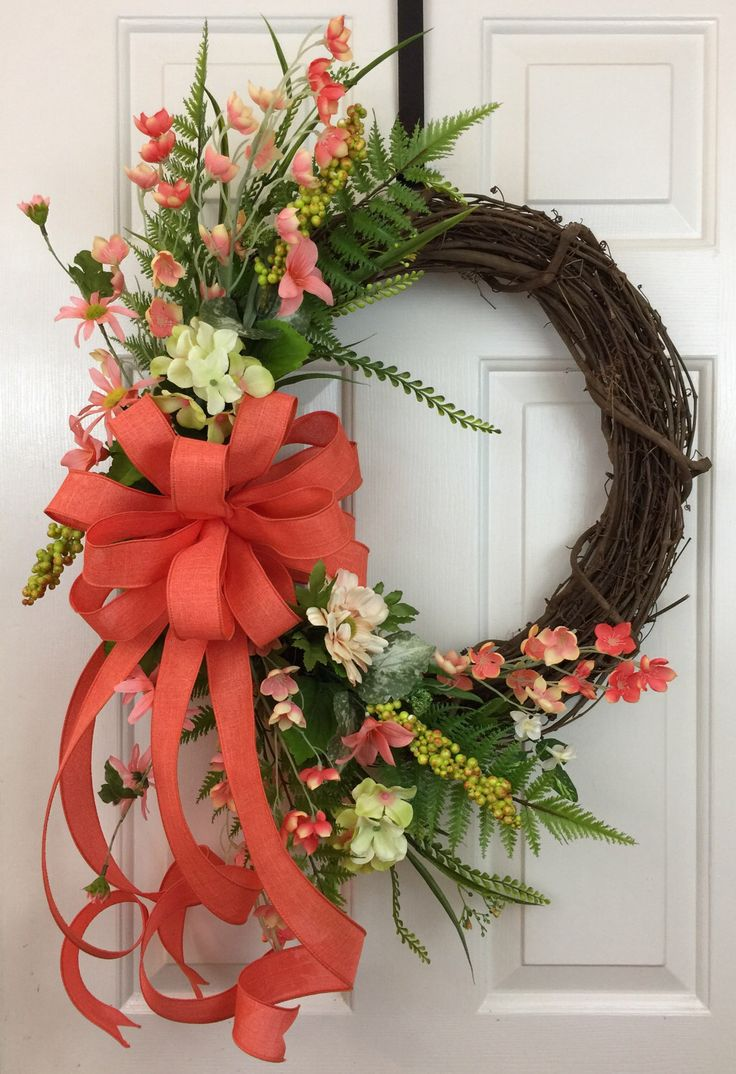 17 images about wreaths front door baskets on pinterest Spring flower arrangements for front door
