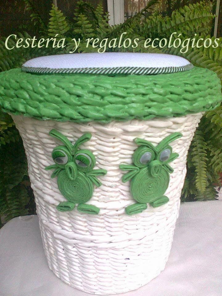 1000 images about cester a y regalos ecol gicos on - Cesteria con papel periodico paso a paso ...