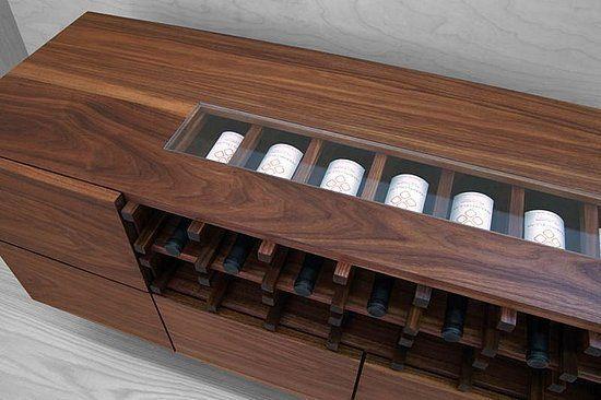 Crave Worthy: Modern Cellar Skylight Wine Credenza