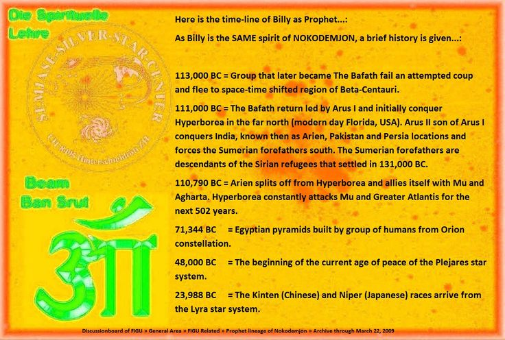 111,000 BC = The Bafath return led by Arus I and initially conquer Hyperborea in the far north (modern day Florida, USA). Arus II son of Arus I conquers India, known then as Arien, Pakistan and Persia locations and forces the Sumerian forefathers south. The Sumerian forefathers are descendants of the Sirian refugees that settled in 131,000 BC.