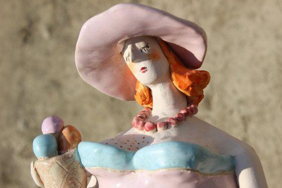 ceramic sculpture ceramic figurine ceramic art by AgnieszkaBeer