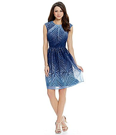 Antonio Melani Izzy Ombre Lace Dress #Dillards