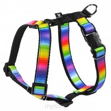 Szelki dla psa TĘCZA, RAINBOW, RAINBOW HARNESS, szelki typu guard, regulowane szelki dla psów MYSMO  #szelkidlapsa #szelki #dlapsa