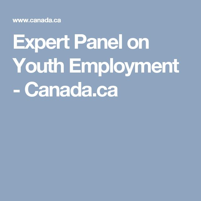 Expert Panel on Youth Employment - Canada.ca