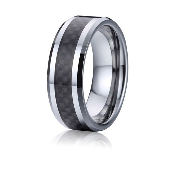 high quality mens carbon fiber titanium steel wedding bands promise rings anel alliances usa size 6 - Cheap Wedding Rings For Men