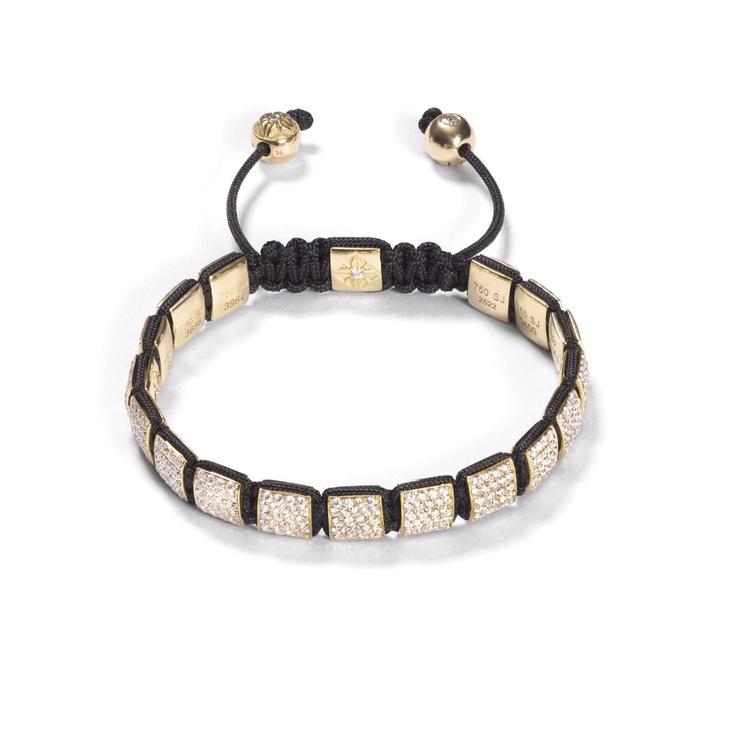 White Diamond Lock Bracelet