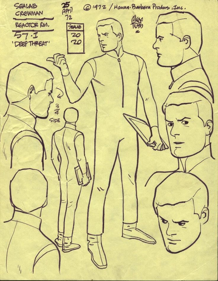 ALEX TOTH SEALAB 2020 , in PaoloGiovenale's TOTH MODEL Comic Art Gallery Room - 130409