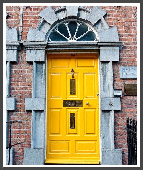 A solicitor's door - interestingThe Doors, Yellow Front, Sunshiney Yellow, Colors Front, Front Doors, Painting Colors, Colors Doors, Bright Yellow, Yellow Doors