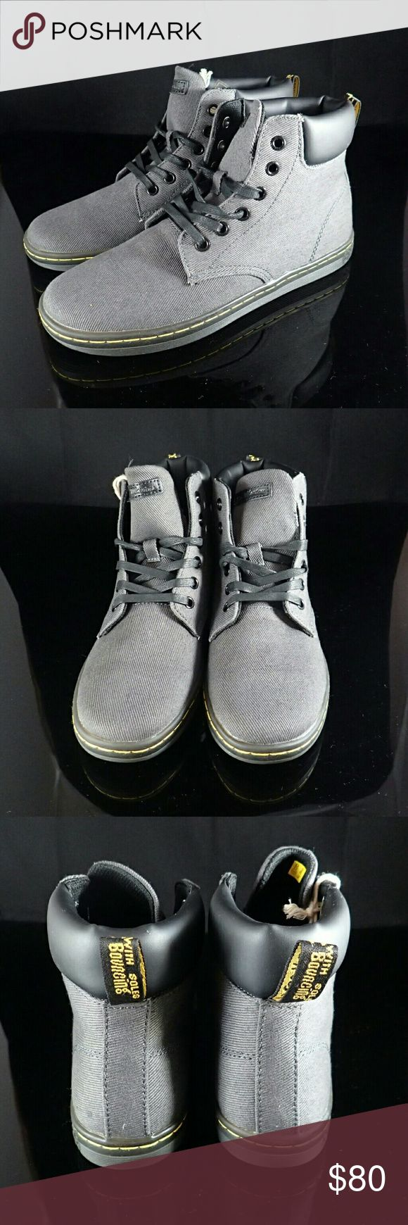 Dr. Airwair Martens Grey Boots Women's 7 - New Brand new, never worn, no damage. Does not ship with box. Dr. Martens Shoes Lace Up Boots