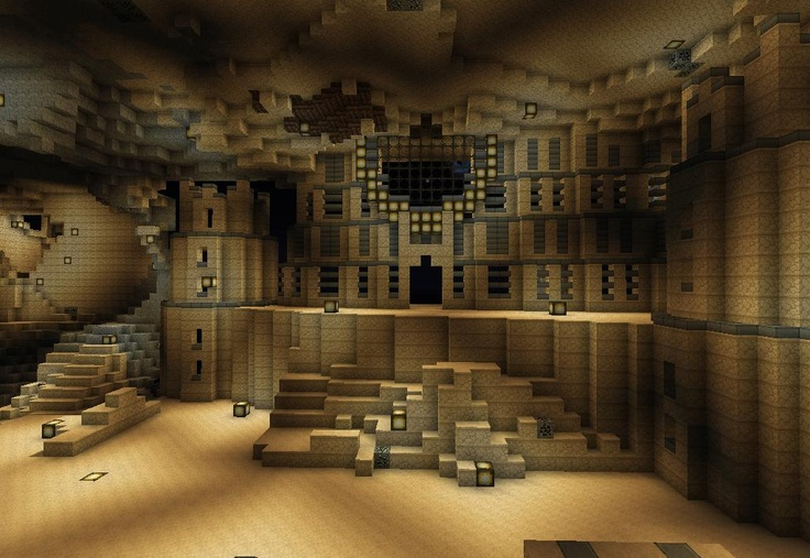 Building Big Underground Buildings In Minecraft