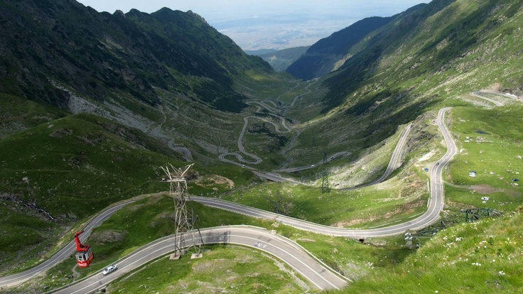 The Transfăgărășan (trans (over, across) + Făgăraș) or DN7C is the second-highest paved road in Romania, and considered by some[who?] to be the most dramatic. Built as a strategic military route, the 90 km of twists and turns run north to south across the tallest sections of the Southern Carpathians, between the highest peak in the country, Moldoveanu, and the second highest, Negoiu. The road connects the historic regions of Transylvania and Wallachia, and the cities of Sibiu and Pitești.