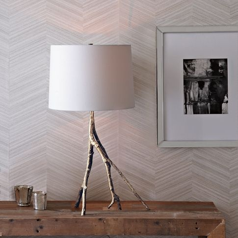 Branch Table Lamp - Polished Nickel   west elm