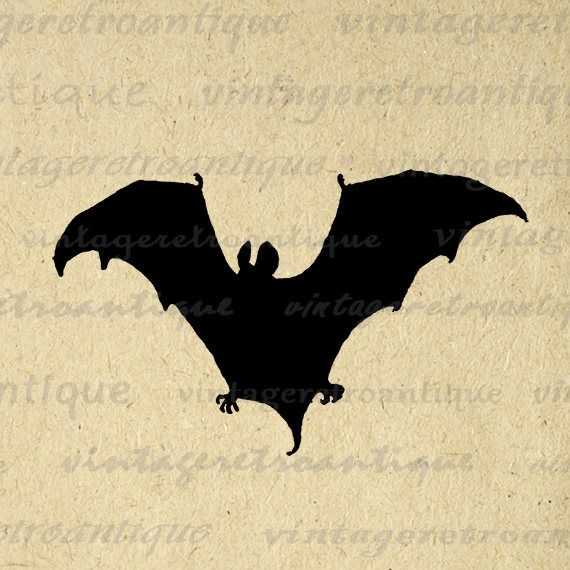 Printable Image Bat Silhouette Graphic Halloween Digital Download Antique Clip Art Jpg Png Eps 18x18 HQ 300dpi No.3313 @ vintageretroantique.etsy.com #DigitalArt #Printable #Art #VintageRetroAntique #Digital #Clipart #Download