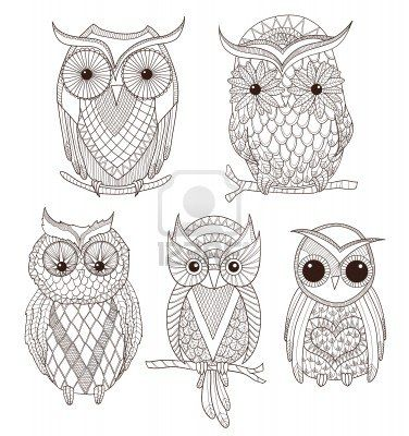 Set Of Cute Owls Royalty Free Cliparts, Vectors, And Stock Illustration. Image 14006822.