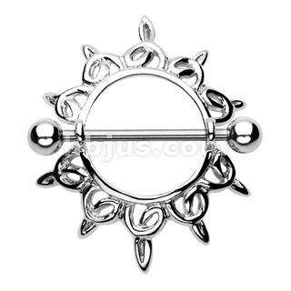 Wholesale Body Jewelry - Hollywood Body Jewelry  Body Jewelry  Nipple Rings  KFV930::316L Surgical Steel Shining Star Nipple Shield Ring piercing-jewlery