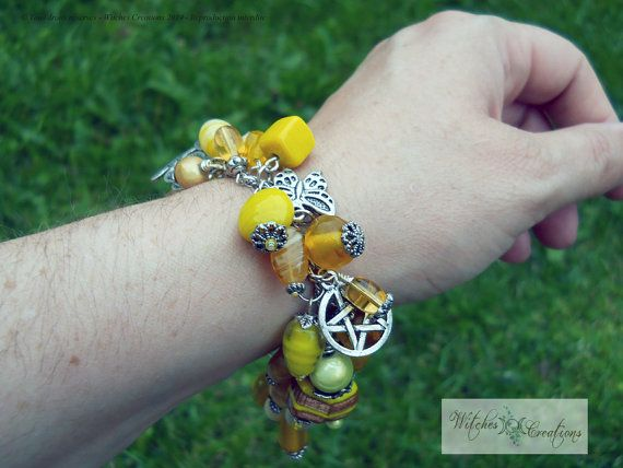 My Dear Element  Air Spirit  Yellow   Charms by WitchesCreations