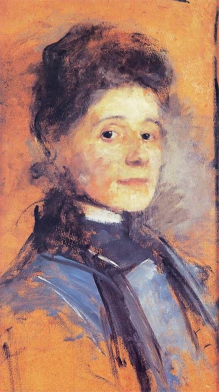 Olga Boznańska, Autoportret Ok. 1900. Olej na tekturze. 54 x 30 cm. Własność prywatna (depozyt w Muzeum Narodowym w Krakowie).