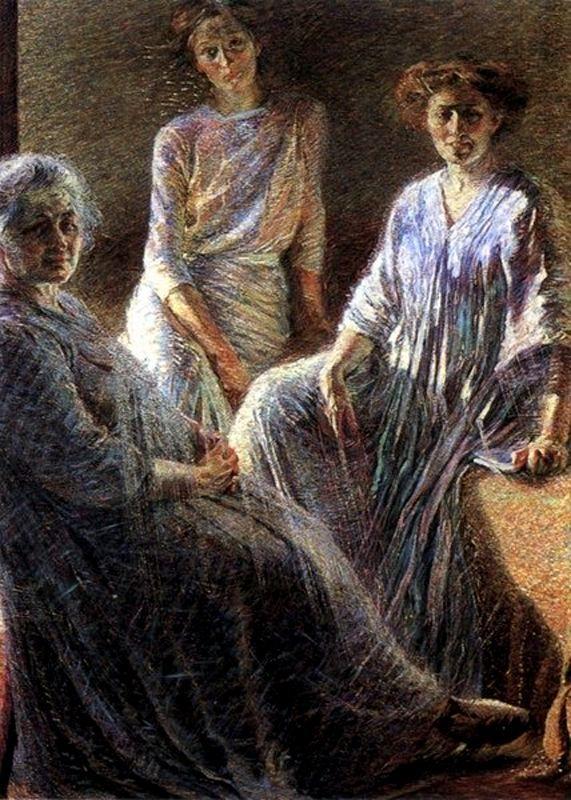 """Umberto Boccioni """"Three Women"""" 1910 Oil on canvas, private collection"""