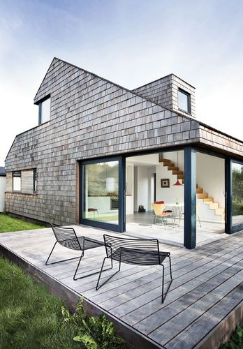 Det moderne kolonihavehus architects house and modern for Scandinavian style homes exterior