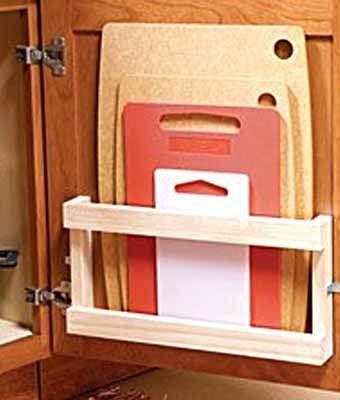 как удобно хранить разделочные доски на кухне