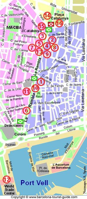 Guide des hôtels sur les Ramblas de Barcelone