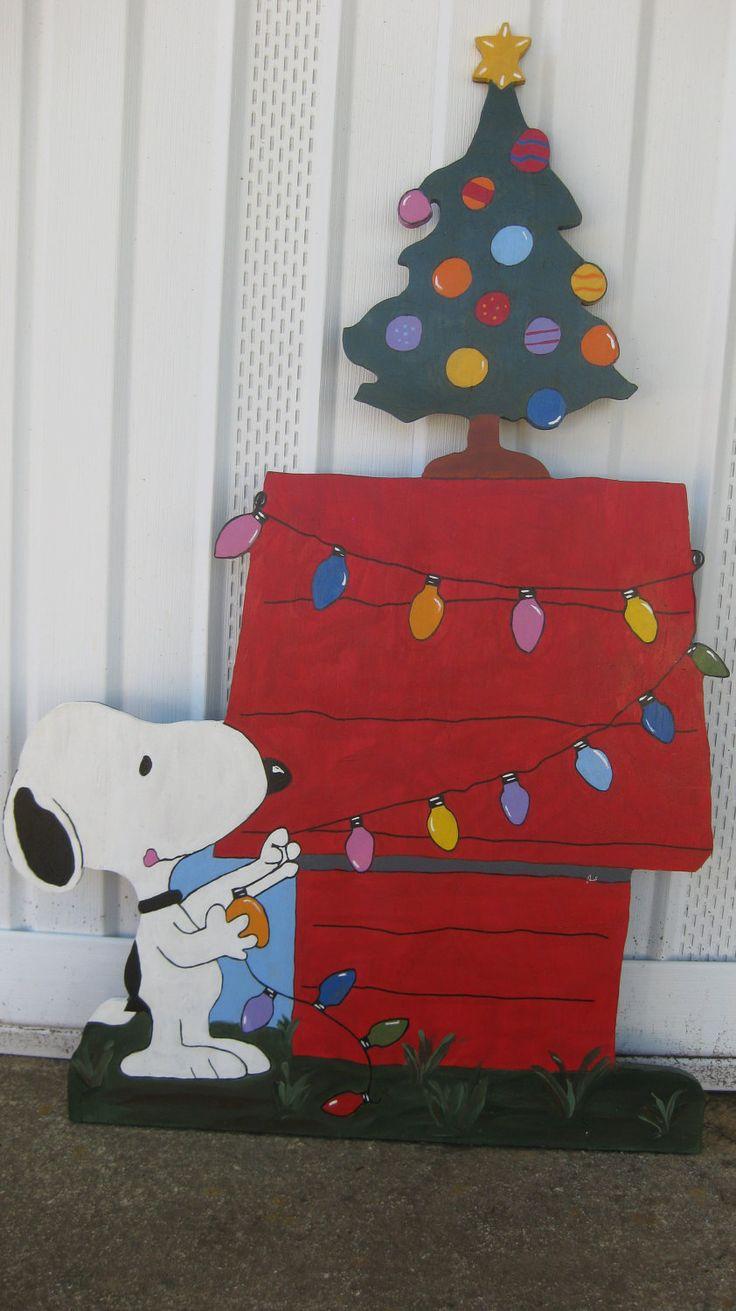 Snoopy Christmas..3 ft tall. $79.00, via Etsy.