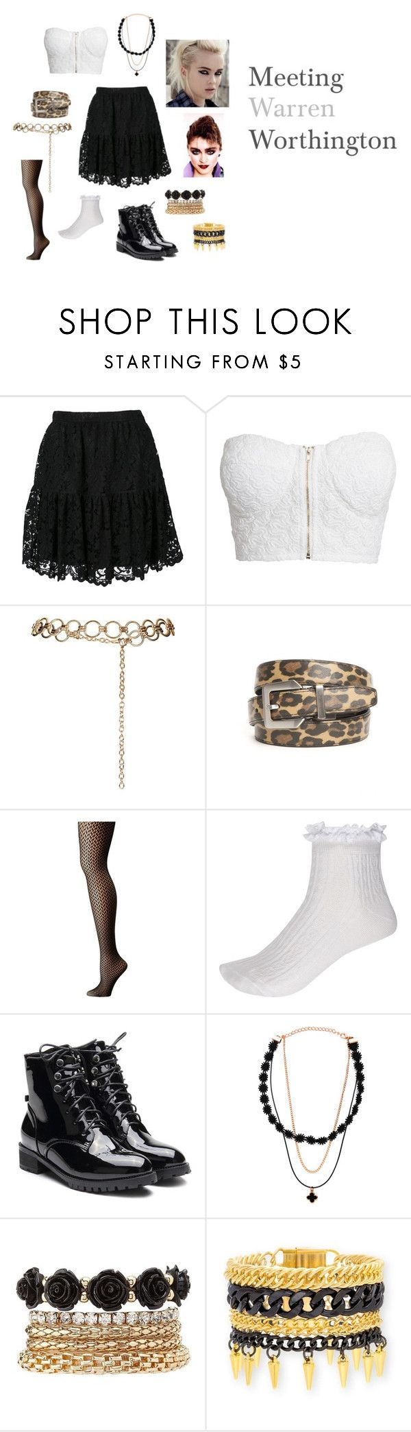 """""""Meeting Angel"""" by lana-86 ❤ liked on Polyvore featuring Yves Saint Laurent, NLY Trend, Topshop, New Directions, Wolford, River Island, Charlotte Russe and Steve Madden"""