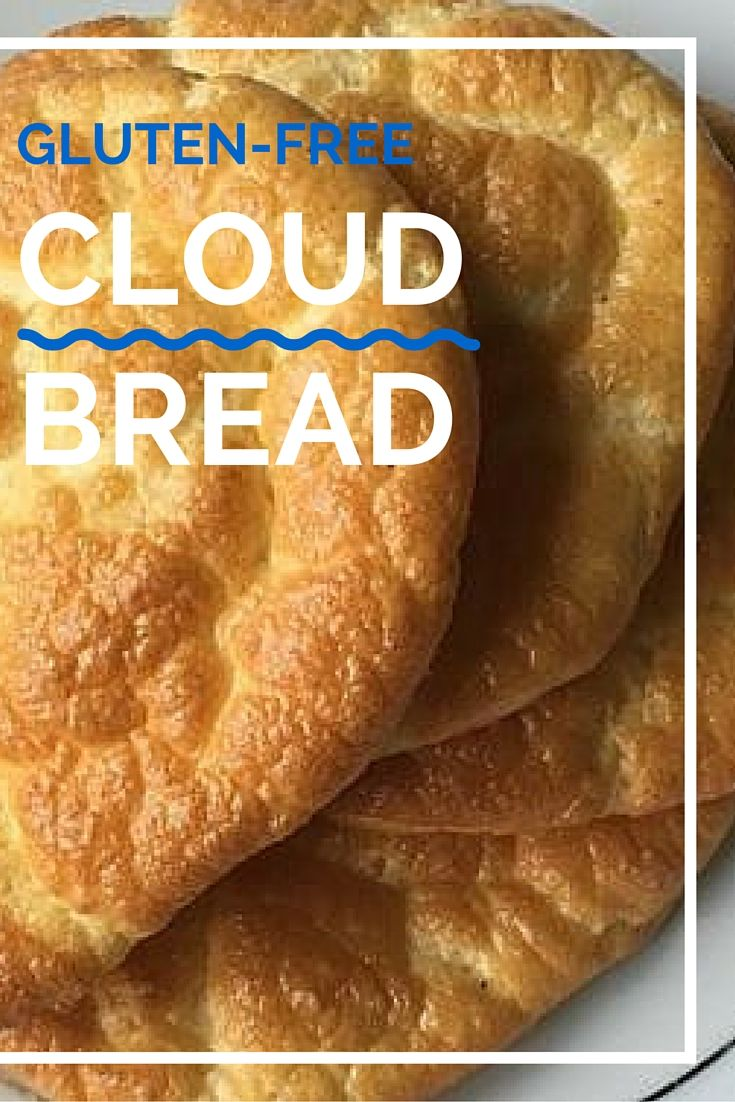 Only four ingredients are needed to make the fluffy texture of cloud bread: eggs, cream cheese, cream of tartar and a pack of sweetener.