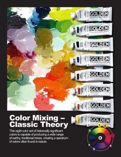 Golden Artist Colors Heavy Body Acrylic Paint Classic Theory Color Mixing (Set of 8)