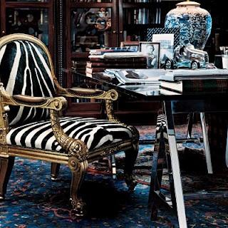Ralph Lauren Desk w Zebra Chair