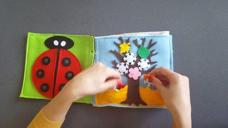 Quiet book Carte senzoriala cu activitati pentru copii  Model2