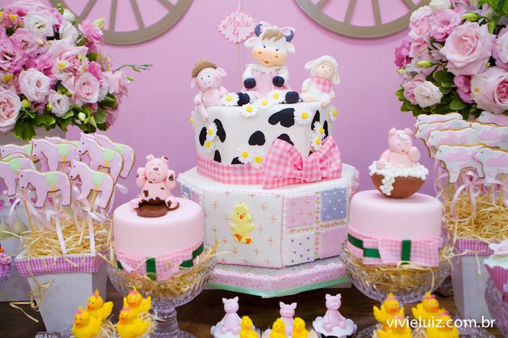 festa fazendinha menina rosa - Pesquisa Google