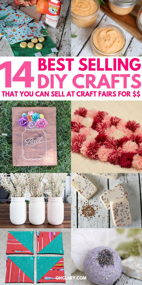 14 Awesome DIY Crafts That Sell Well At Craft Fairs and On Etsy! These fast & ea…