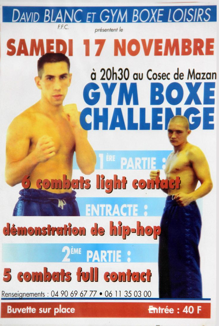Premier gala #GymBoxeChallenge 2001 Fullcontact Mazan