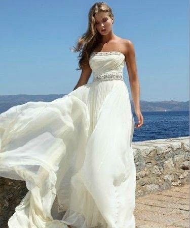 Abito da sposa per matrimonio al mare