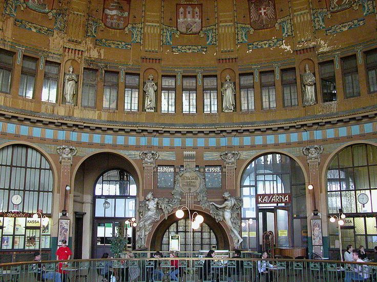 The art nouveau architecture in one of the most beautiful cities in the world, Prague