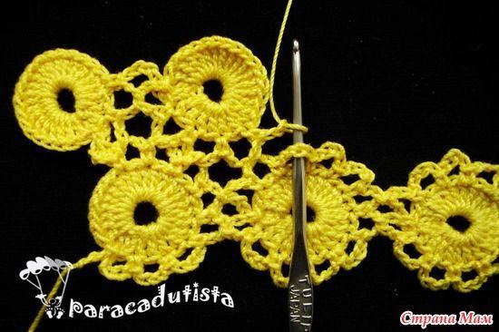 МК по безотрывному вязанию кружочков-цветочков