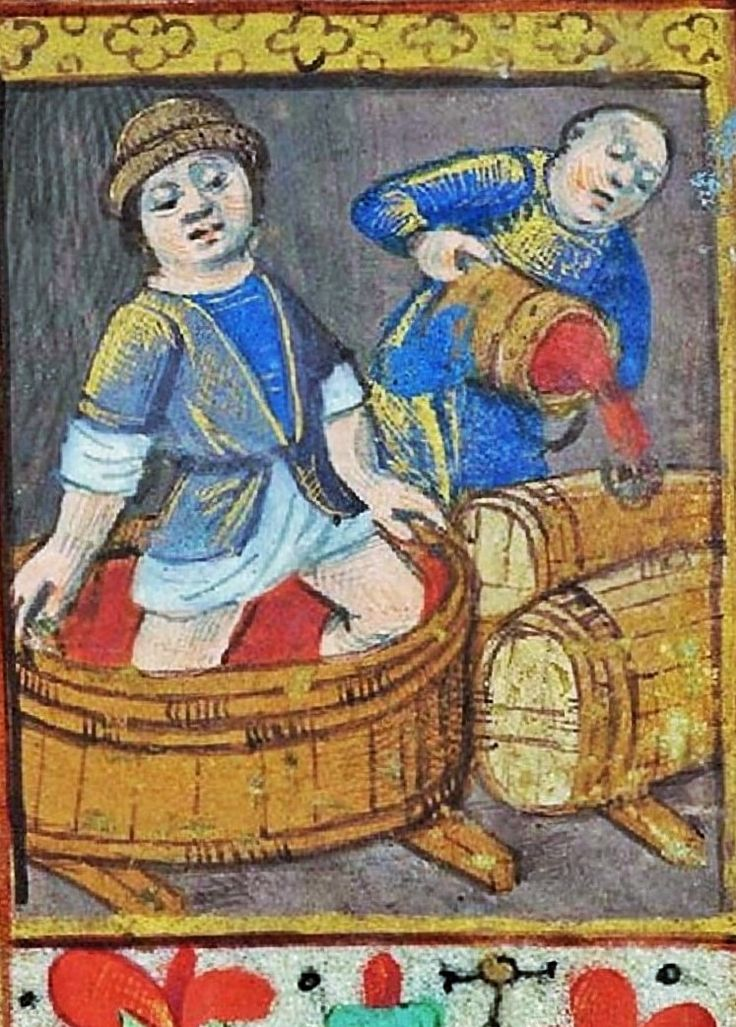 It's About Time: Gardeners Working - Illuminated Manuscripts - Harvesting the grapes & Making the wine