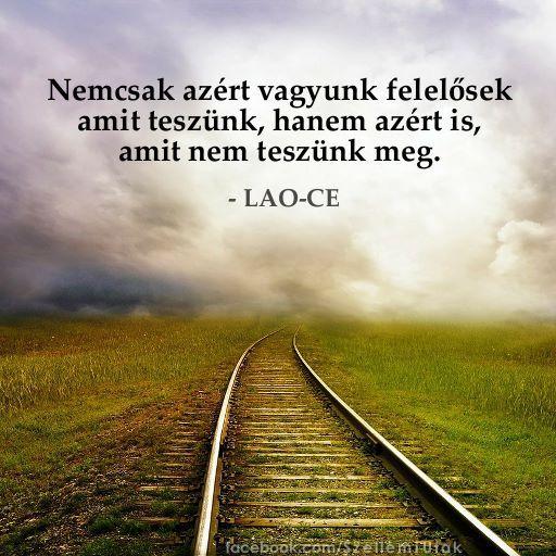 Lao-Ce gondolata a felelősségről. A kép forrása: Szellemi Utak # Facebook