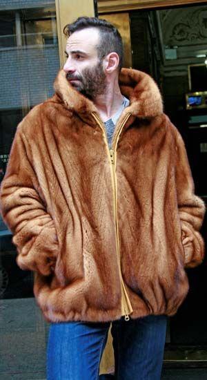 015c3566e0f5 Marc Kaufman Furs presents a whiskey men s mink bomber fur jacket from Marc  Kaufman Furs New York City