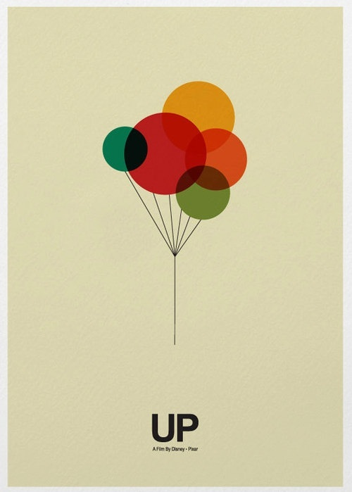 I love this minimalistic poster of the movie up. I like how the shapes and lines were used.