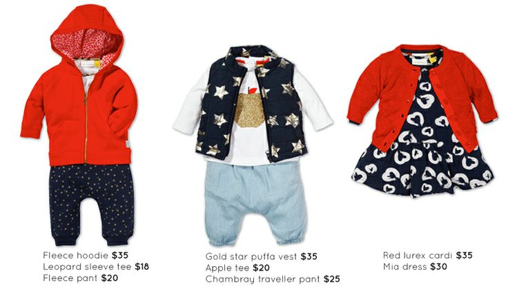 Baby Girls adorable outfits this season from The Kidstore.