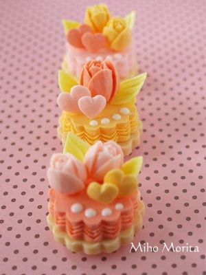 These are the tiny cakes of soap carving.