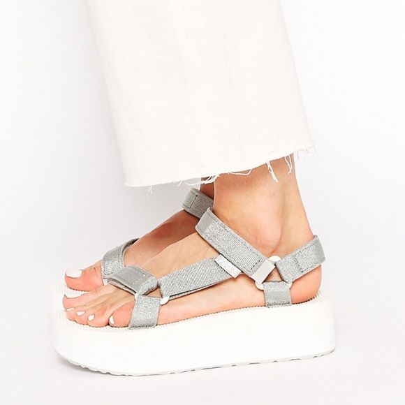 Teva Platform Sandals Your summer wardrobe won't be complete without a cute pair of quality platform sandals. 40mm Micro rubber platform sole Adjustable velcro closures,Logo tag New without original box ♦️No trades. Teva Shoes Sandals