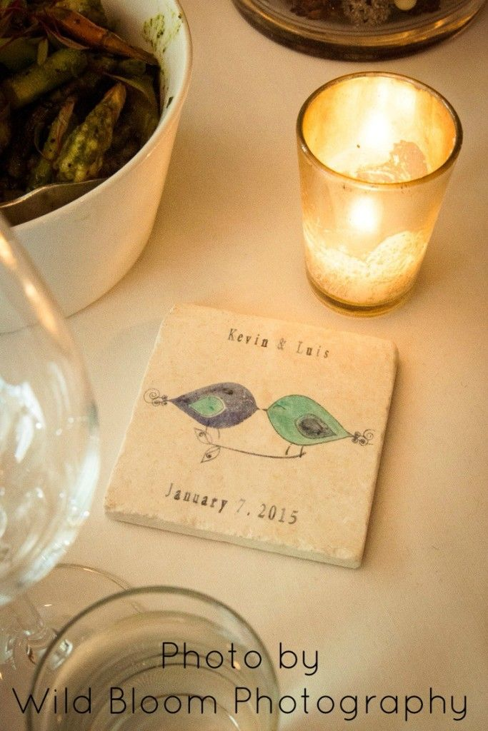 custom wedding favor coasters by @mylittlechick