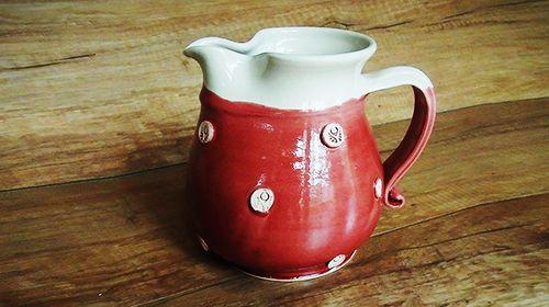 1-1,5 literes magyar kézműves piros teáskancsó 4100.-ft!