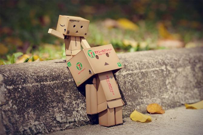 Tiernos Robots Hechos con Cajas de Amazon robots papel   DANBO ...