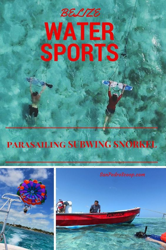 Subwing, parasail, snorkel off Ambergris Caye, Belize. WHAT A DAY!: