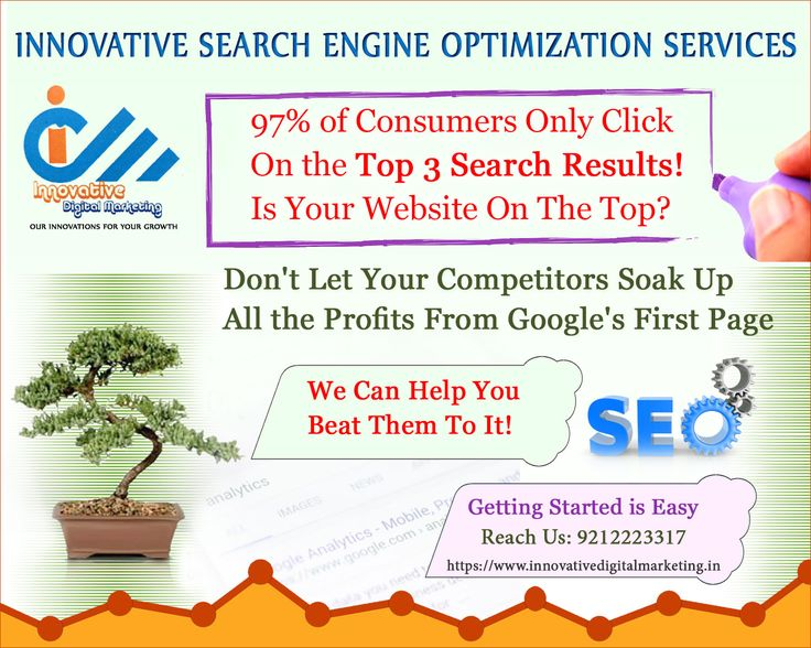 Is Your Website on The Top?  97% of Consumers only click on the top 3 search results! Perhaps, you also want your website displaying on top.  Don't let your competitors soak up all the profits from Google's first page.  We can help you beat them to it and improve rank on Search Engines through our seo services in delhi.  Getting started is easy with Innovative Digital Marketing. Let's visit https://innovativedigitalmarketing.in/ to get more info about us.
